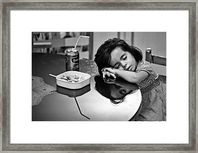 After Dinner Framed Print by Mohammadreza Momeni