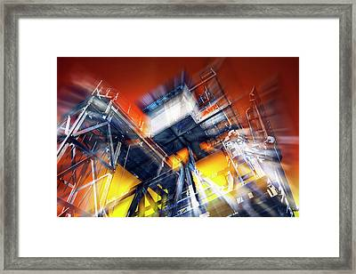 Framed Print featuring the photograph After Effect by Wayne Sherriff