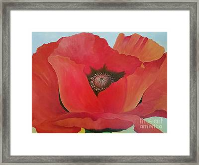 After Georgia Framed Print by Susan Williams