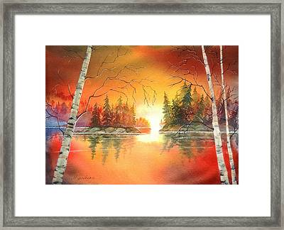 After Glow Framed Print by Marilyn Jacobson