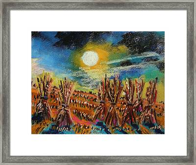 After Harvest Night Framed Print