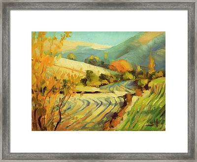 Framed Print featuring the painting After Harvest by Steve Henderson