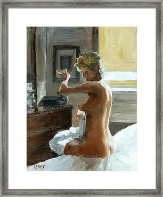 After Her Bath Framed Print by Ann Radley