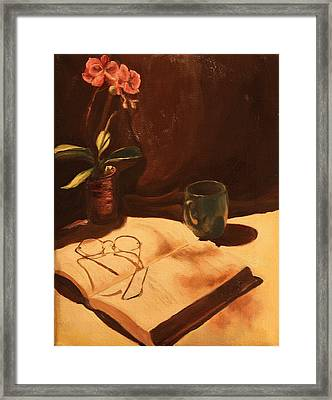 Framed Print featuring the painting After Hours by Rachel Hames
