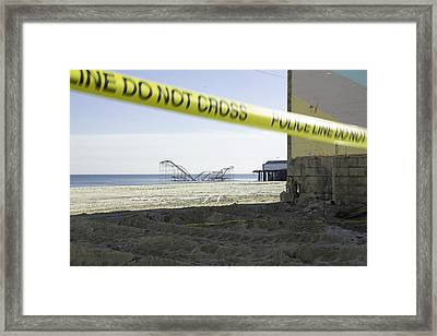 After Hurricane Sandy Framed Print