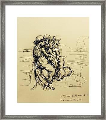 After Leonardo Da Vinci  Framed Print