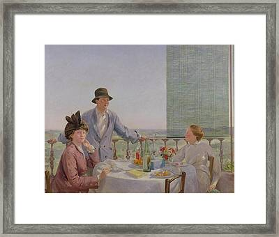After Lunch Framed Print by Gerard Chowne