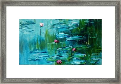 After Monet Framed Print
