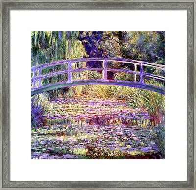 After Monet Water Lily Pond Framed Print