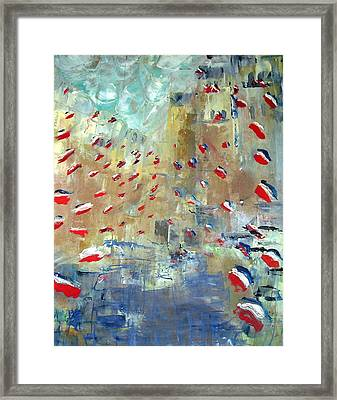 After Monet's Rue Montorgueil Framed Print by Michela Akers