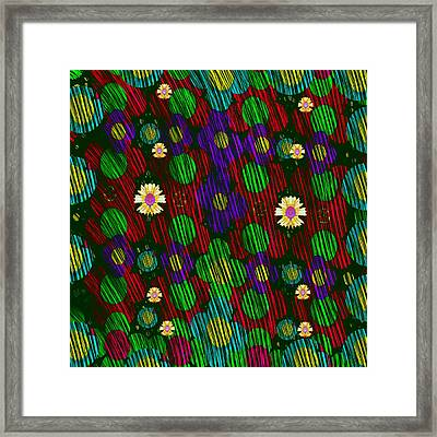 After Rain In The Floral Forest Framed Print
