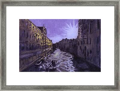 After Rio Dei Mendicanti Looking South Framed Print by Hyper - Canaletto