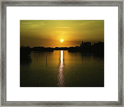 Framed Print featuring the photograph After Seven  by Gouzel -