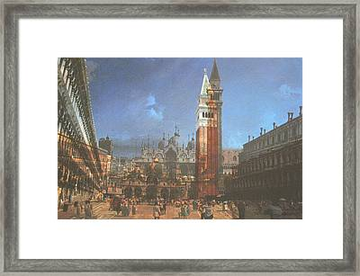 After St. Mark's Square Framed Print by Hyper - Canaletto