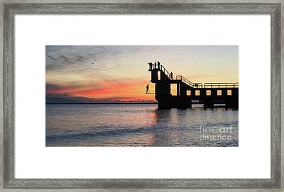After Sunse Blackrock 3 Framed Print