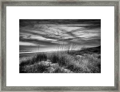 After Sunset In B And W Framed Print