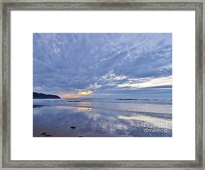 Moonlight After Sunset Framed Print by Michele Penner