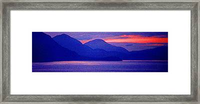 After Sunset Mountains 5 Pd Framed Print by Lyle Crump