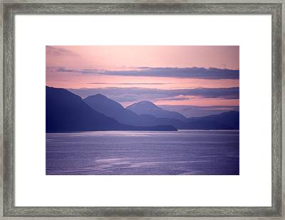 After Sunset Mountains 62 Framed Print by Lyle Crump