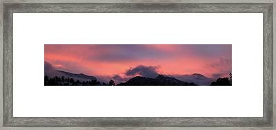 After Sunset - Panorama Framed Print