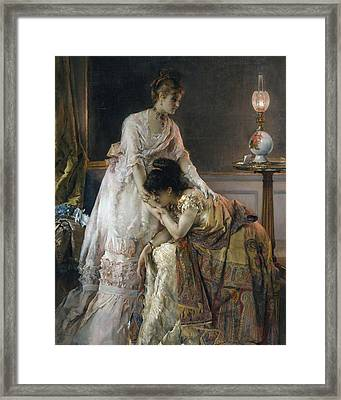 After The Ball Framed Print by Alfred Emile Stevens