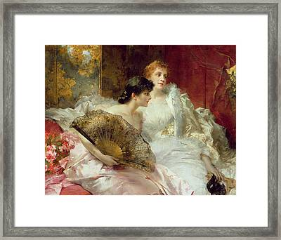 After The Ball Framed Print by Conrad Kiesel