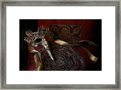 After The Ball - Venetian Mask Framed Print by Yvonne Wright