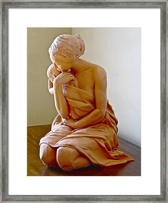 After The Bath Framed Print by Deborah Dendler
