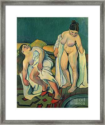 After The Bath Framed Print by Marie Clementine Valadon
