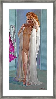 After The Bath Framed Print by Paul Krapf