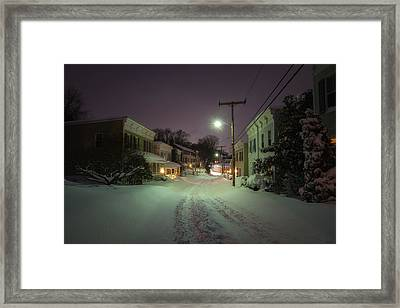 After The Blizzard, Oella Framed Print