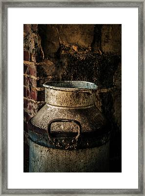 Framed Print featuring the photograph After The Cows Have Gone by Odd Jeppesen