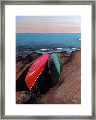 Framed Print featuring the painting After The Crossing by Kenneth M Kirsch