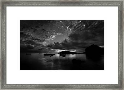 Framed Print featuring the photograph After The Day The Night Shall Come by Julian Cook