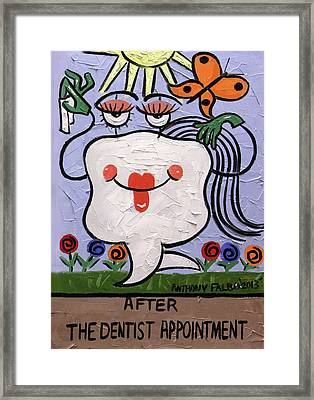 After The Dentist Appointment Framed Print