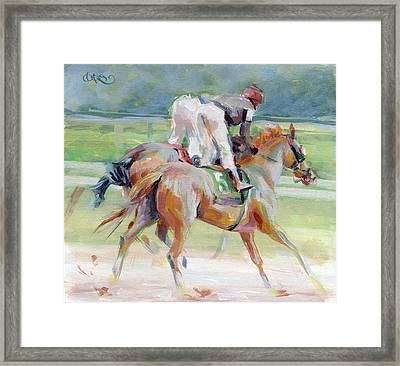 After The Finish Framed Print by Kimberly Santini