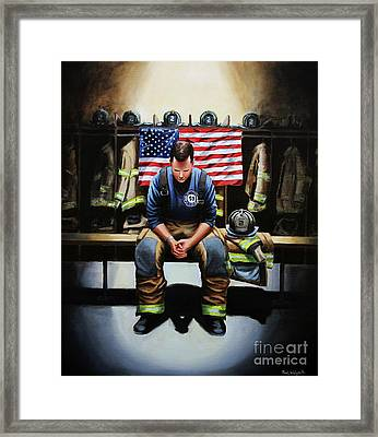 After The Fire Framed Print by Paul Walsh