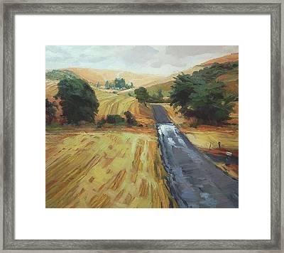 After The Harvest Rain Framed Print