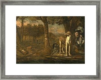 After The Hunt Framed Print by Govert Dircksz Camphuysen