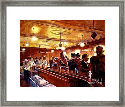 After The Market Closes Framed Print by David Lloyd Glover