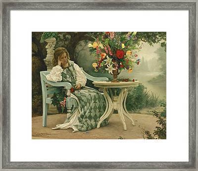 After The Masquerade Framed Print