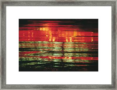 After The Rain Abstract 1 Framed Print by Tony Cordoza