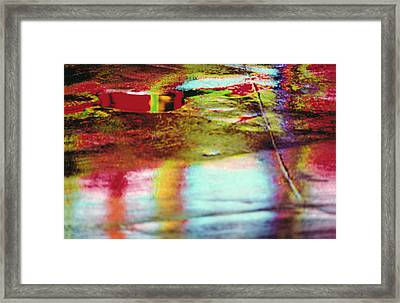 After The Rain Abstract 2 Framed Print by Tony Cordoza