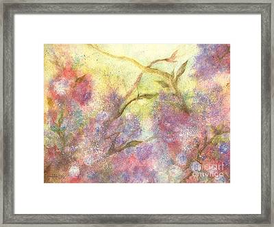 After The Rain - May Flowers Framed Print