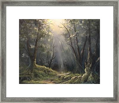 After The Rain  Framed Print by Paintings by Justin Wozniak