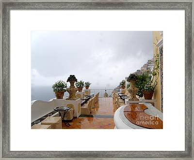 After The Rain. Positano Framed Print