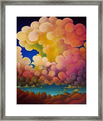Framed Print featuring the painting After The Rain by Richard Dennis