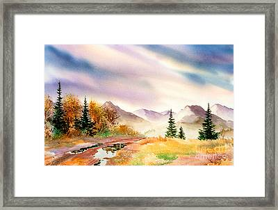 Framed Print featuring the painting After The Rain by Teresa Ascone