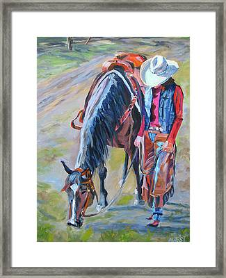After The Ride Framed Print by Anne West