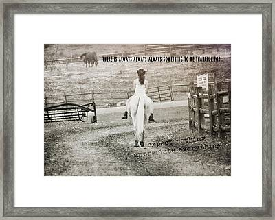 After The Ride Quote Framed Print by JAMART Photography
